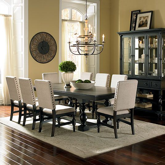 Elegant Dining Room Sets: Leona 7pc Formal Dinning Set: Table & 6 Side Chairs By