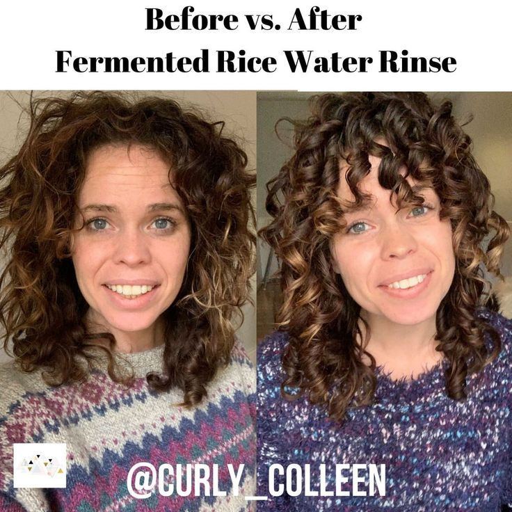 How To Make Rice Water For Curly Hair Curly Hair Styles Curly