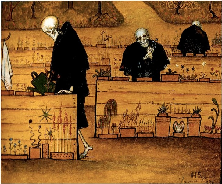 Hugo Simberg - Kuoleman Puutarha, 1906