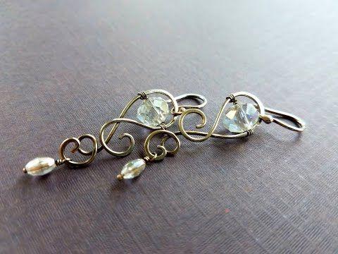 Wire Wrap Earrings - YouTube