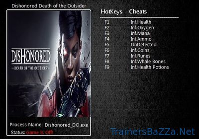 Dishonored Death of the Outsider Trainer and Cheats
