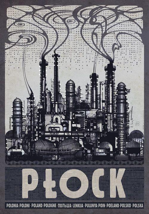 Ryszard Kaja, Plock, Polish Tourist Poster #plock #poland #poster #polska #pologne #ryszardkaja #seeuinpoland #visitpoland