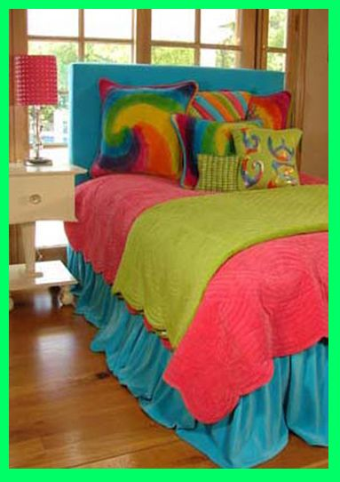 The Chic Technique:  Bright colored girls room   girls, Decorating teen girls rooms, Teenagers bedding in bright colors ...