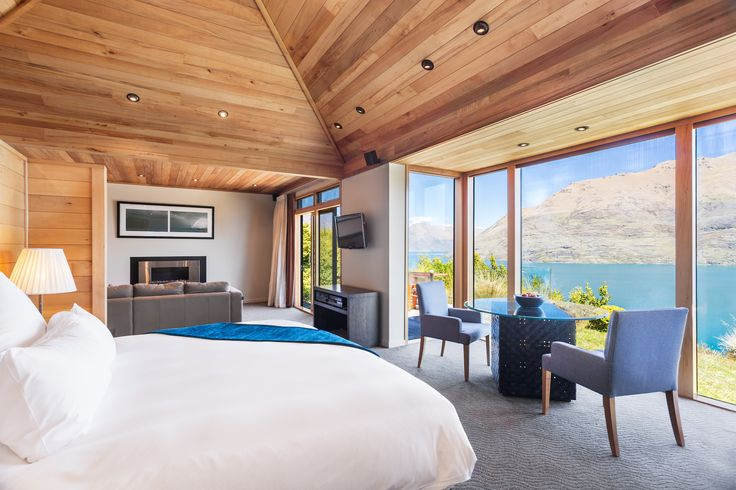 A room with a view. #AzurLodge #UniqueSleeps #LuxuryLodge #Lodge #Queenstown