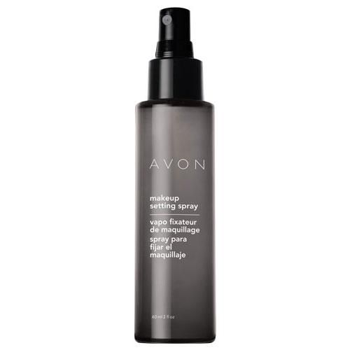 Avon Makeup Setting Spray- A quick spritz helps set makeup in place! Microfine mist dries quickly to an invisible finish. Helps set your foundation, blush, and eye makeup in place without drying our skin.