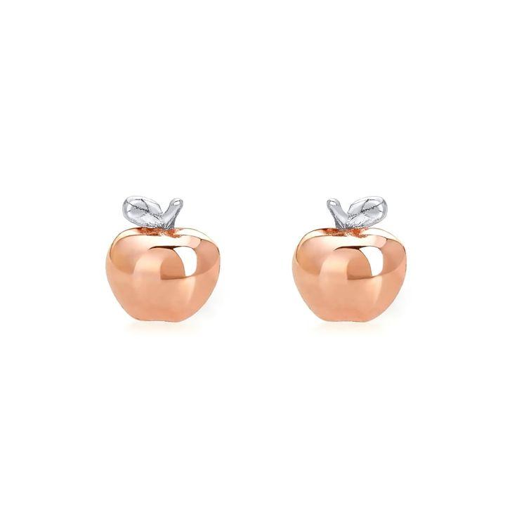 John Greed Scrumptious Apple Stud Earrings | John Greed Jewellery