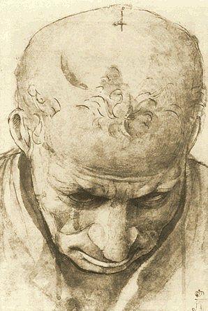 Piero di Cosimo: Study of the Head of an Old Man, 1480.