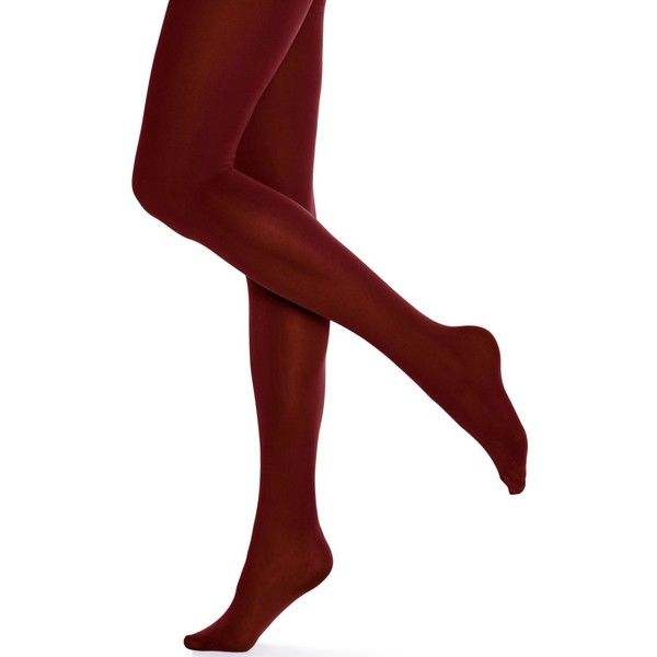 Hue Opaque Tights ($15) ❤ liked on Polyvore featuring intimates, hosiery, tights, nutmeg, opaque pantyhose, opaque stockings, hue pantyhose, hue hosiery and hue stockings