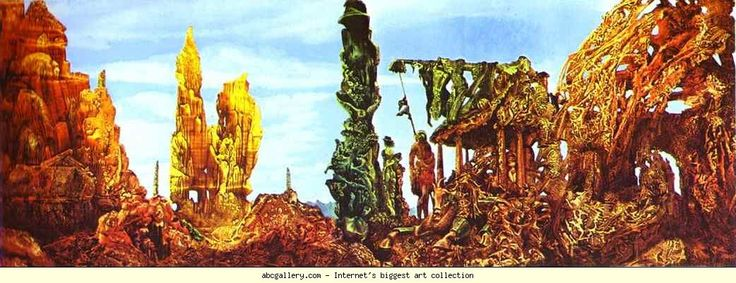 Max Ernst. Europe after the Rain II. 1940-42. Oil on canvas. 54 x 146 cm. Wadsworth Atheneum, Hartford, CT, USA