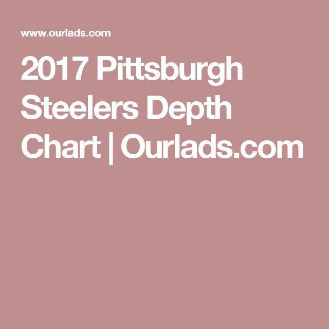 2017 Pittsburgh Steelers Depth Chart | Ourlads.com https://www.fanprint.com/licenses/new-england-patriots?ref=5750