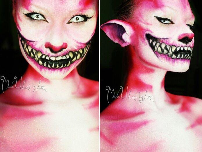 cheshire cat makeup Face Paint &amp Fantasy Makeup - Scary Cat Makeup
