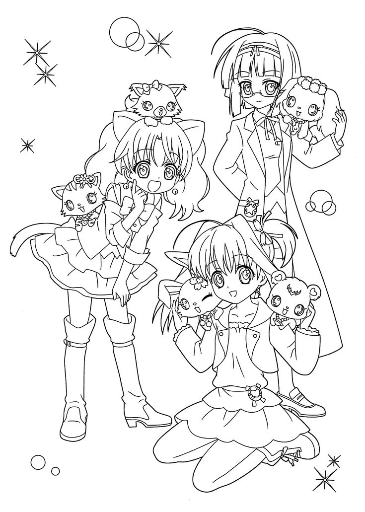 Manga Jewelpet coloring pages for