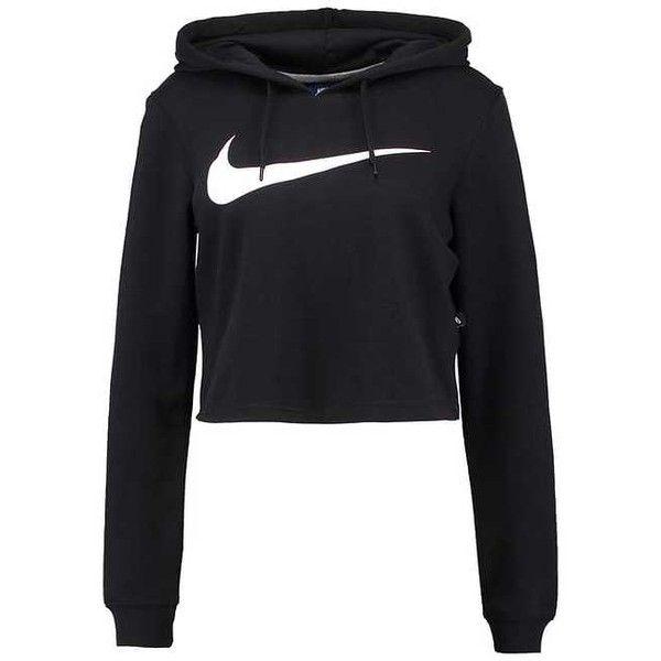 Nike Sportswear Sweatshirt ($48) ❤ liked on Polyvore featuring tops, hoodies, sweatshirts, nike top, black white top, nike, nike sweatshirts and black and white top