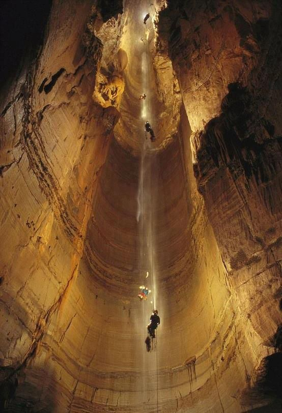 The Krubera Cave, Abkhazia. The deepest known cave on Earth