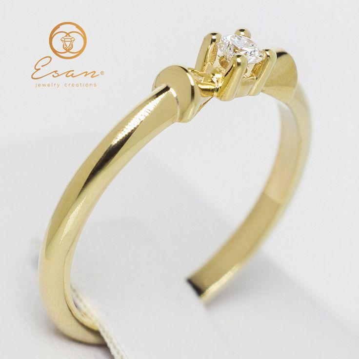 Inel de logodna din aur cu diamant ES26