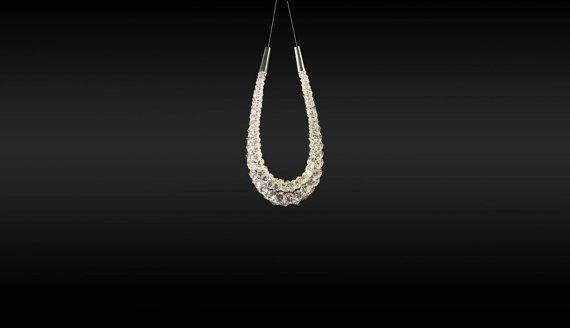 FILAMENT U / V Crystal chandelier by CrystBrand on Etsy