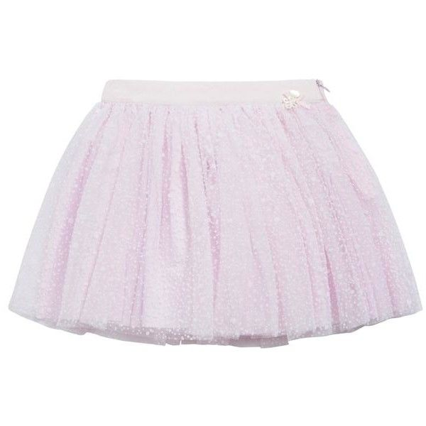 Skirt (150 CAD) ❤ liked on Polyvore featuring skirts, cotton knee length skirt, tutu skirt, pink tutu, pink skirt and pink tutu skirt