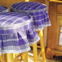 How-To Make No-Sew Kitchen Stool Covers - In My Own Style