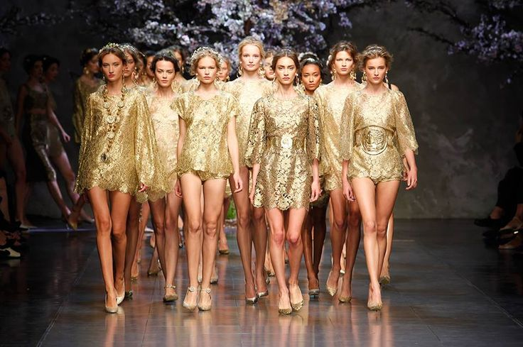 All that glitters is gold at Dolce & Gabbana SS14 at Milan Fashion Week