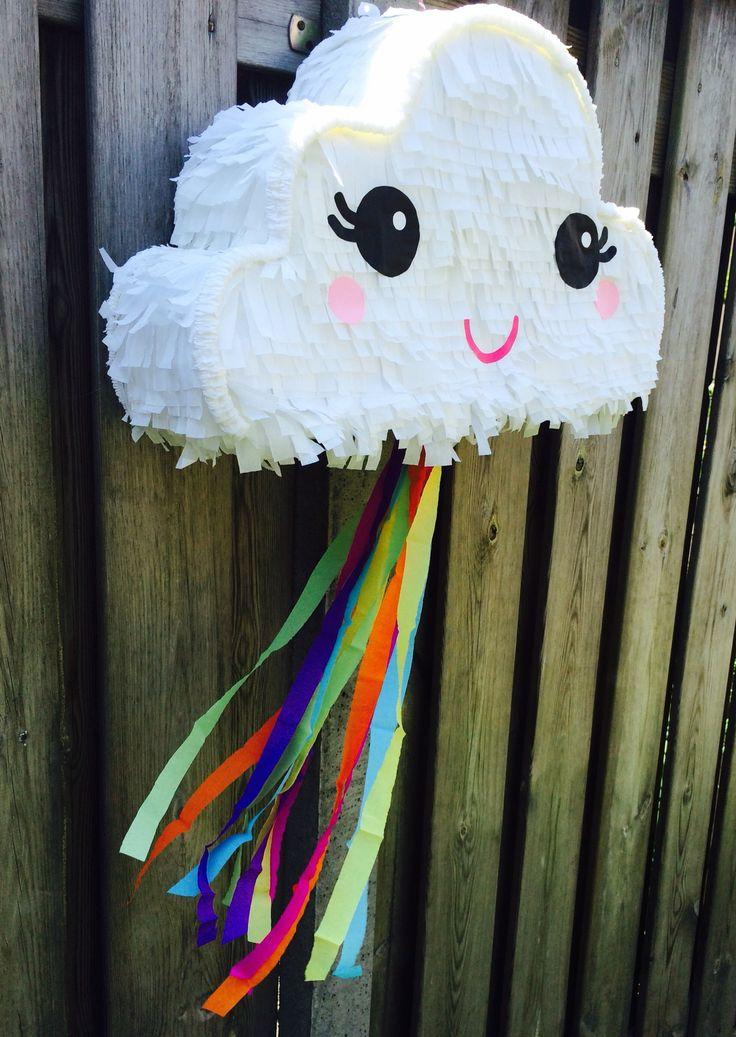 Piñata nube y color #colors #piñatanube #nube #party #cloud #piñatas #pinata #rainbow #pinatacloud