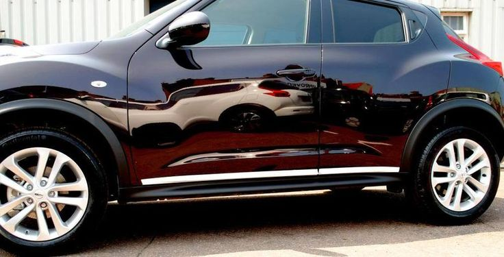 Nissan Juke Pair of Side Door Bottom Sills White New Genuine KE7601KA00WH