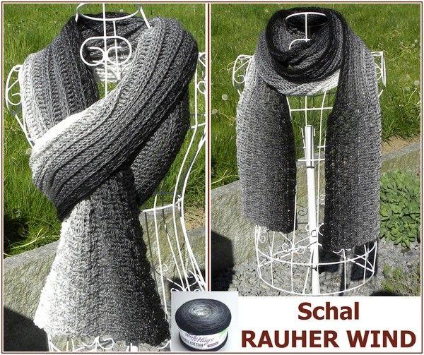Jetzt mit einem Bobbel // Farbverlaufsgarn einen Schal für raues Wetter häkeln. Das wird Dir gut tun und der Schal ist leicht zu häkeln. Hol Dir das PDF.