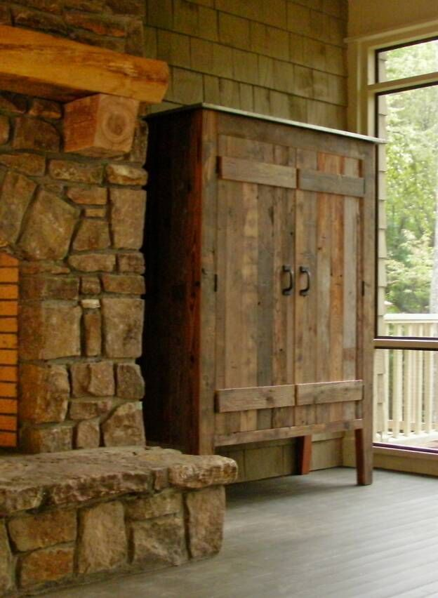 handmade rustic DVD cabinets and shelves | Rustic Old Wood Armoires Cabinets - Mexican Furniture -