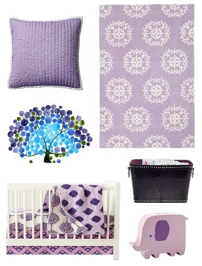 Purple Lavender Violet Eggplant Lilac Baby Nursery Decor Pinterest And