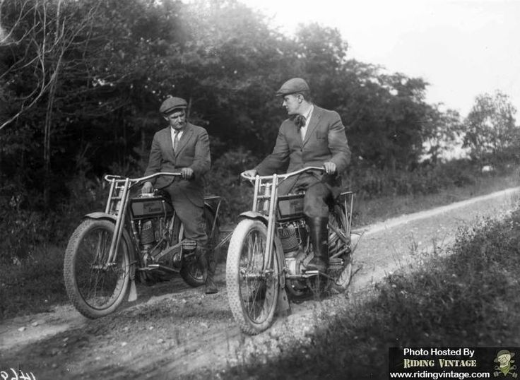 Walter Davidson and Bill Harley out for a ride.