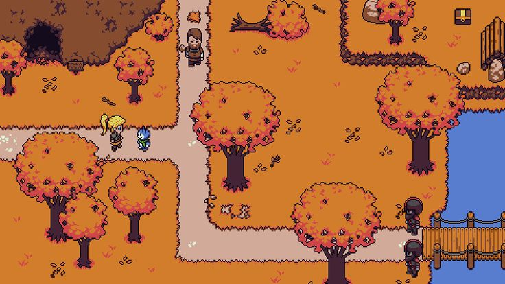Freyja the warrior and Bam the cat are enjoying the autumn woods! Find more info about 2D RPG Towards The Pantheon at http://www.connorlinning.com/ttp  #gamedev #indiedev #indiegame #gamedevelopment #pixelart #gameart #gamedesign #leveldesign #gaming #vid