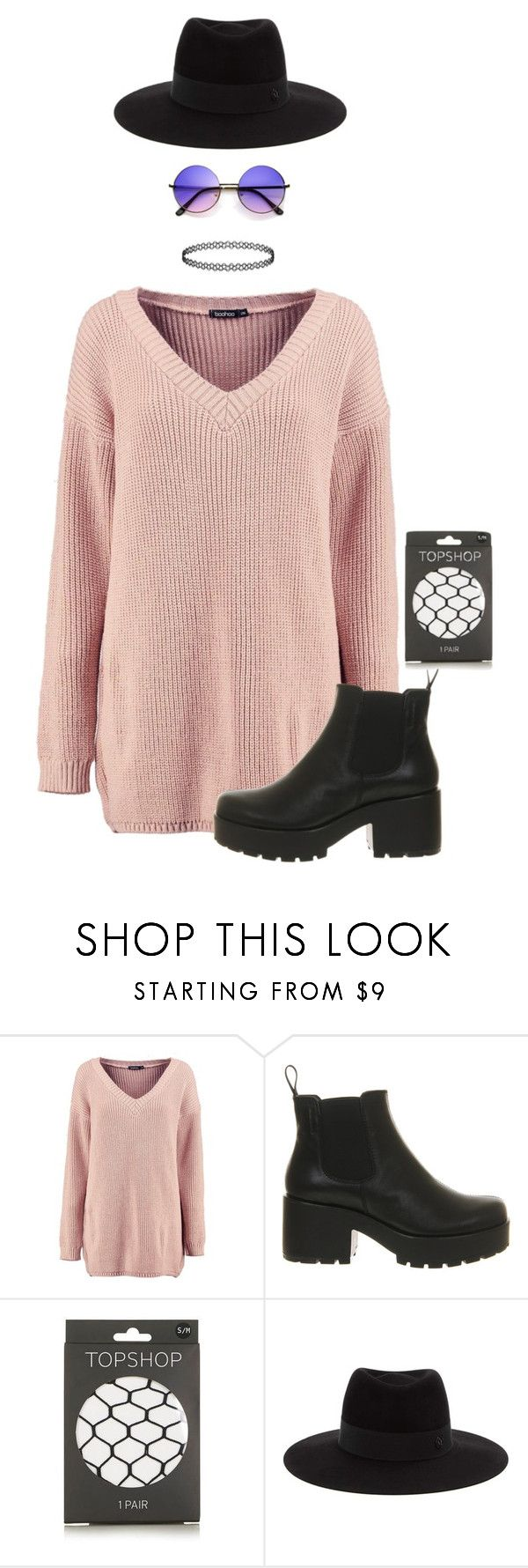 """""""I'm on a permanent vacation"""" by pageslearntothink on Polyvore featuring Boohoo, Vagabond, Topshop and Maison Michel"""