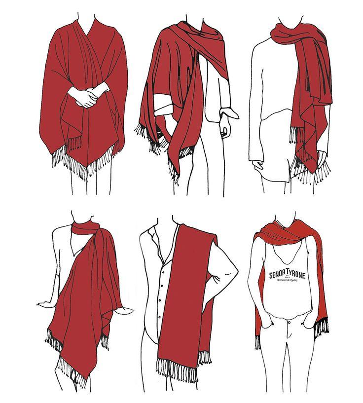 Poncho & Large Scarf - Ways to Wear