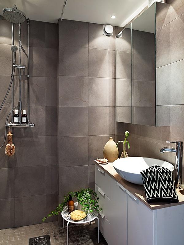 open shower // bathroom » Modern Swedish Family House Design