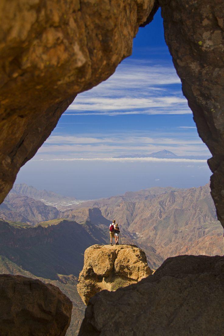 Senderismo en la isla de Gran Canaria. Gran Canaria, Spain