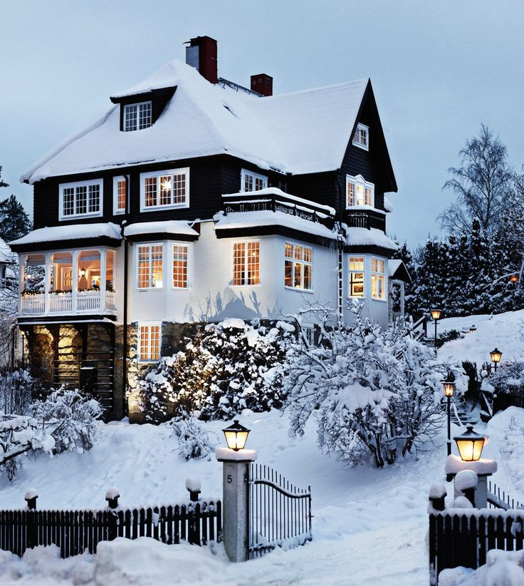 A home in winter