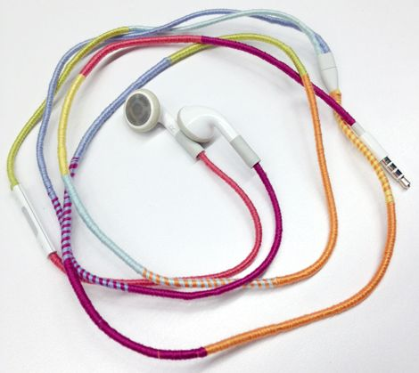 wrapped earphones - this would be great for traveling because nobody is going to have the exact same headphones as u, use different colors different styles and you will never lose them!;)
