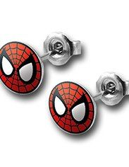 Spiderman Face 316L Surgical Steel 18G Stud Earrings