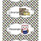 Owl Polka-Dot Classroom Job Chart Collection  9 sets of colorful polka-dot Owl Job Charts.  SUPER CUTE!!!