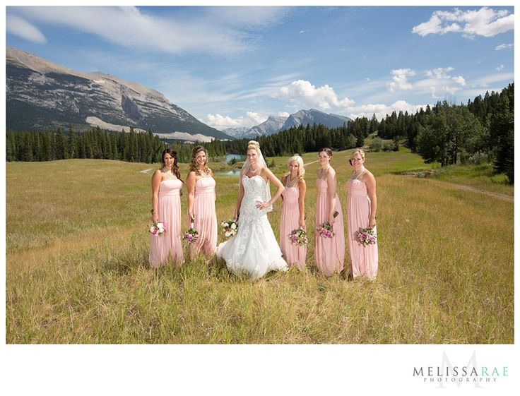 bridesmaids, canmore mountain wedding