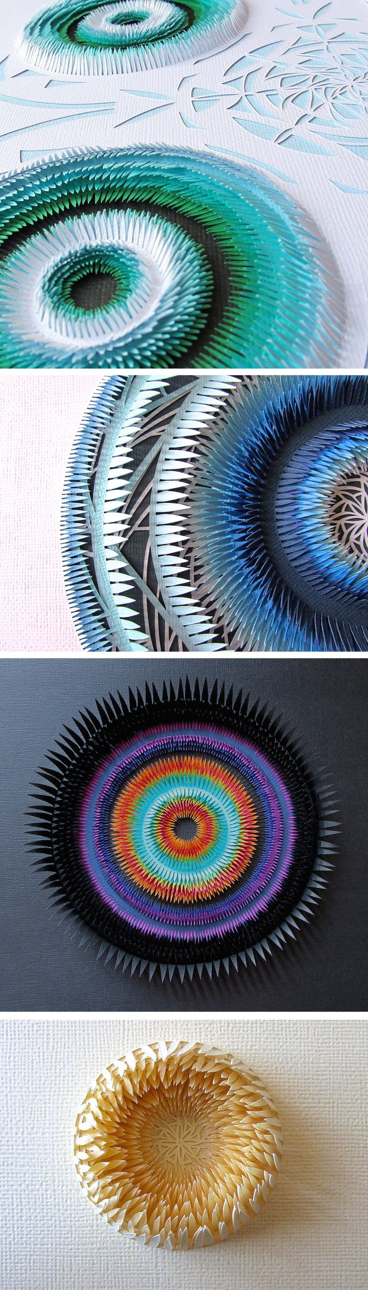 Explosive Cut Paper Sculptures by Clare Pentlow