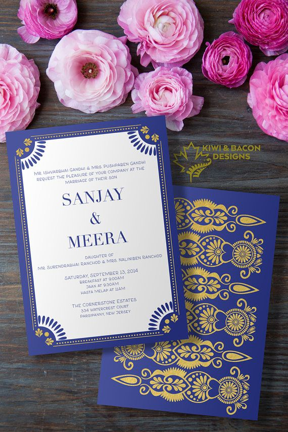 marriage invitation card in hindi language%0A Indian Wedding Invitation Card or Suite Zari by KiwiAndBacon