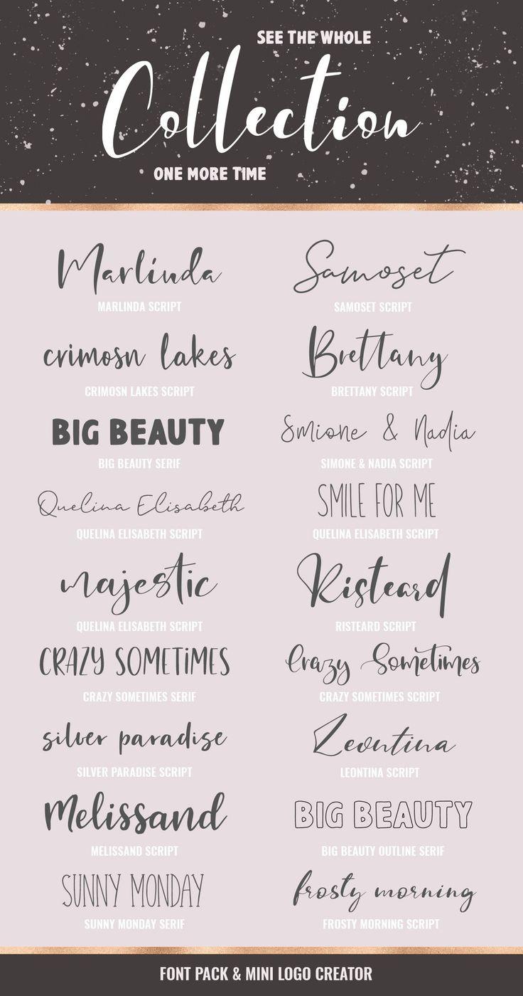 Download Font Pack & Mini Logo Creator | Aesthetic fonts, Lettering ...