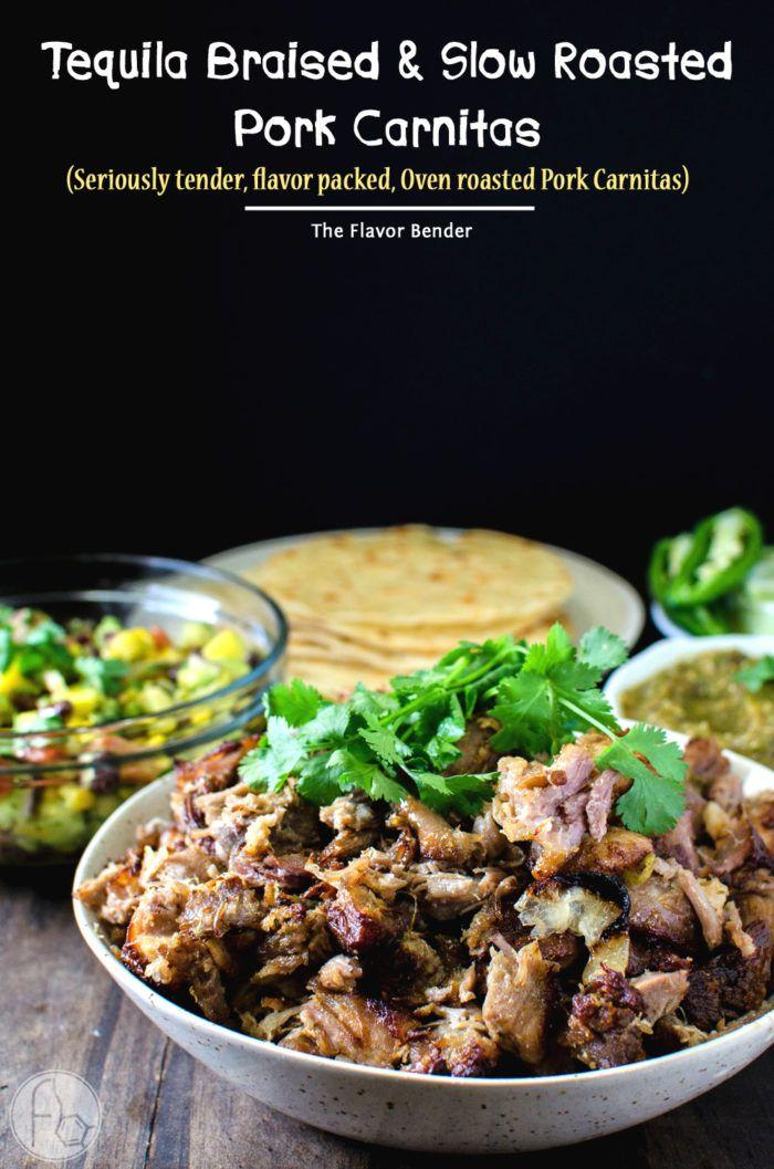Tequila Braised Slow roasted Pork Carnitas - These Pork Carnitas have ...