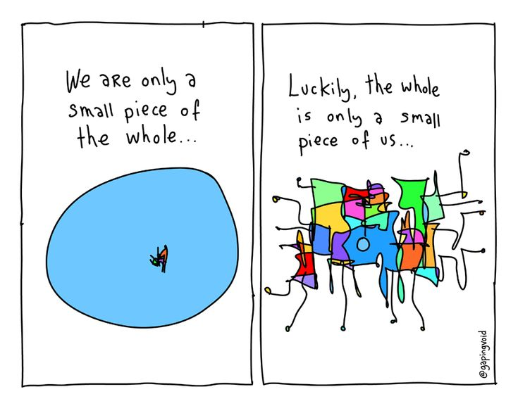 We Are Only a Small Piece of the Whole   Gapingvoid Art