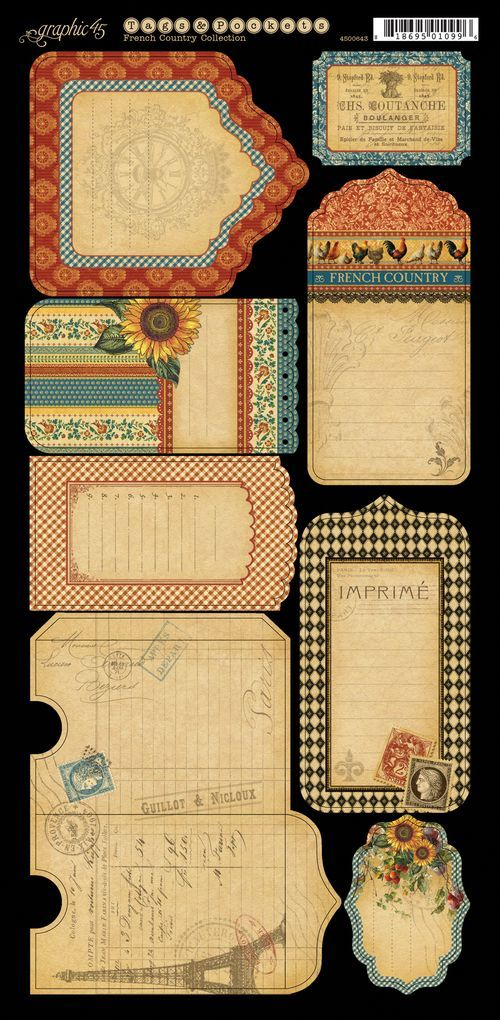 Here we have the marvelous coordinating Cardstock Tags & Pockets from French…