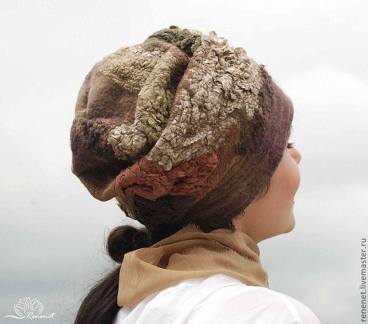 """Купить Валяная шапка """"Еще одна осень"""" - зимняя шапка, шапка осенняя, шапка весенняя"""