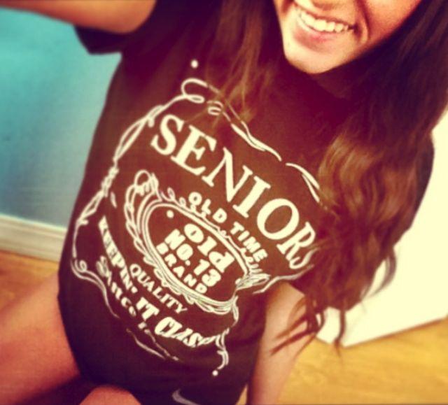 my senior cut day shirts!