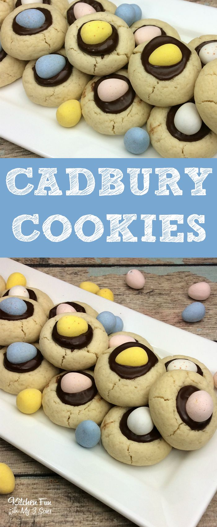 Cadbury Cookies for Easter with mini Cadbury eggs! #easter