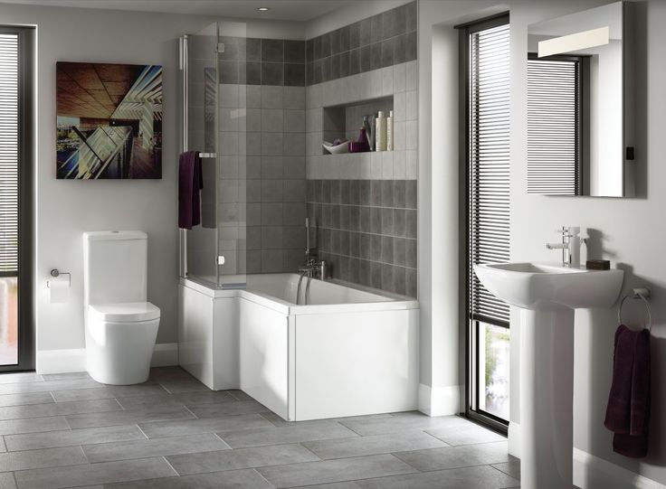 Priveno Bathroom Suite with Asuni Shower Bath