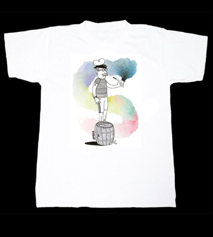 Smoke Tee by Morten Løfberg. High quality print - Unisex fit. You can buy this t-shirt at www.artrebels.com #artrebels #t-shirt #art